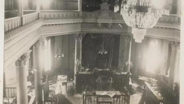 Aula Senatului imediat după deflagrație