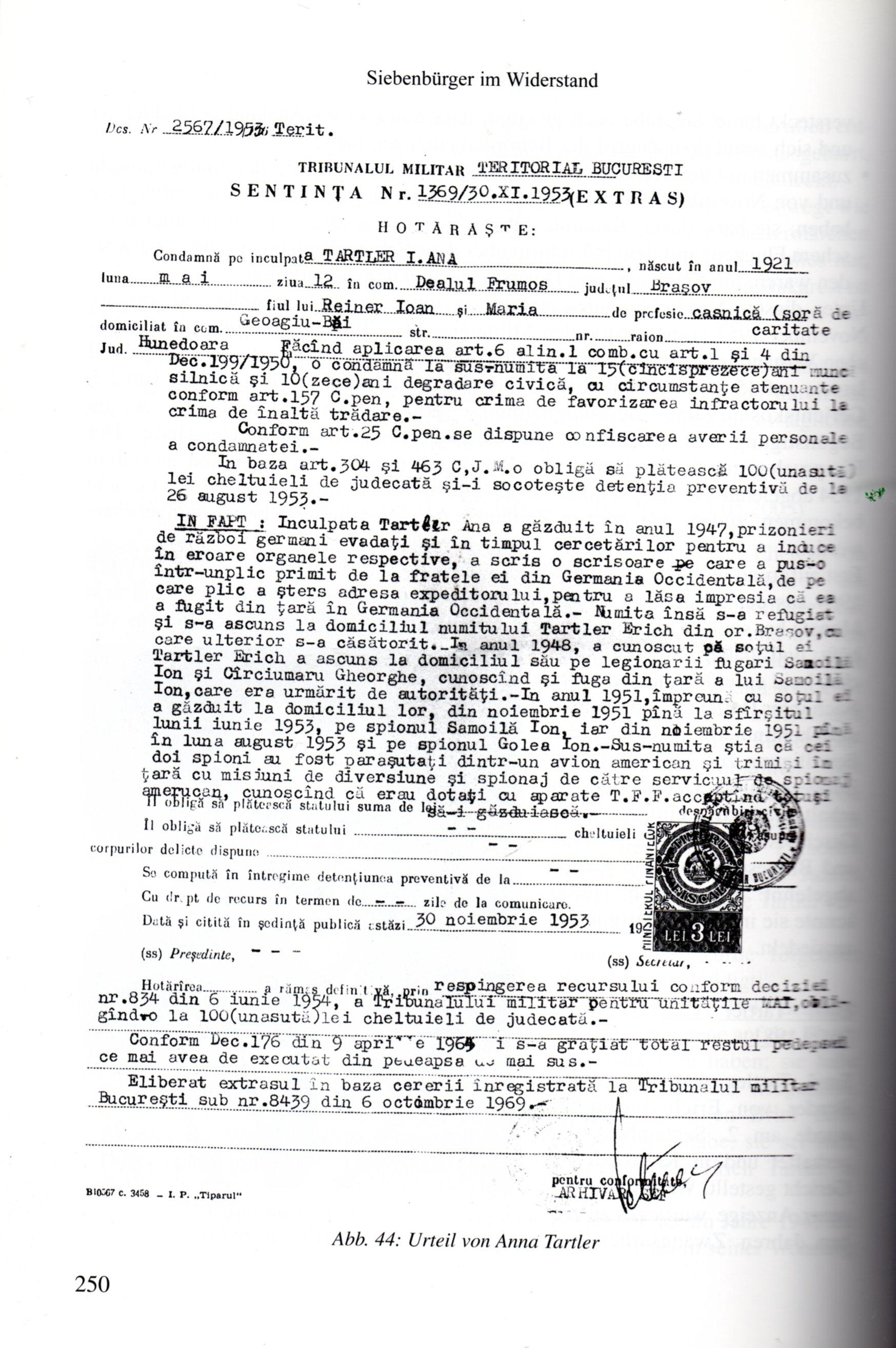 sentinta tartler 1953