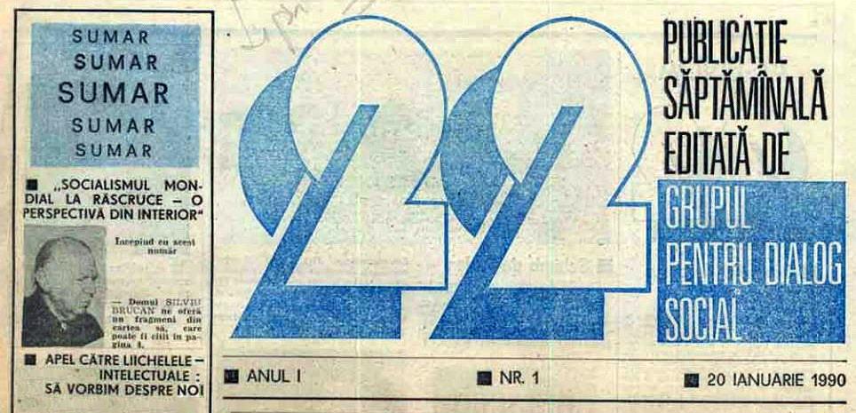 Primul-numar-al-revistei-22-cu-fondatorul-GDS-Silviu-Brucan-20-ian-1990 (1)