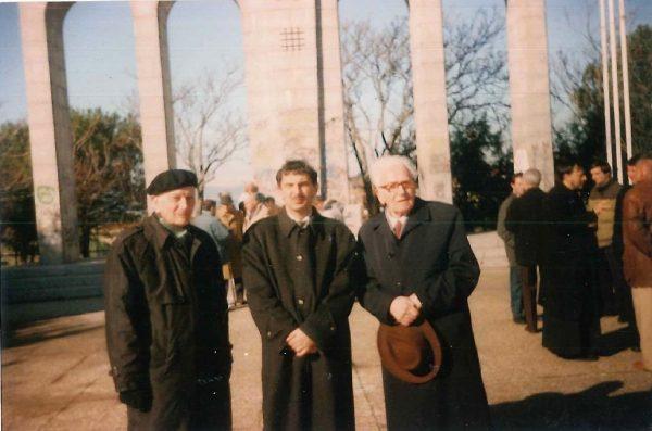 Sorin Olariu, alături de Nae Roșca și Mircea Dimitriu, la Majadahonda (Spania), în preajma anului 2000.
